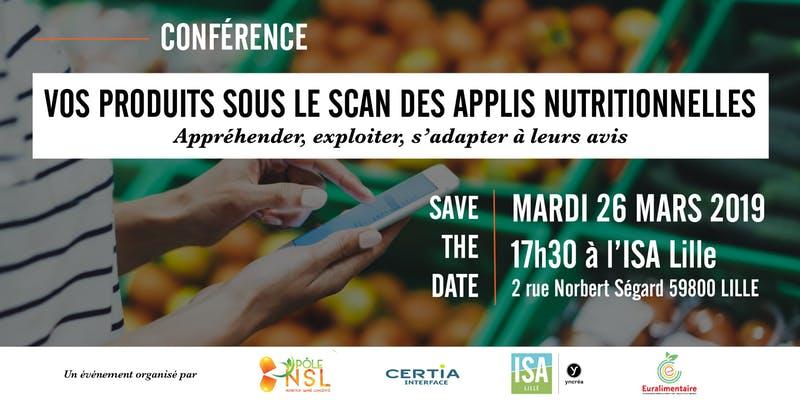 Conférence | Vos produits sous le scan des applis nutritionnelles | 26 mars 2019