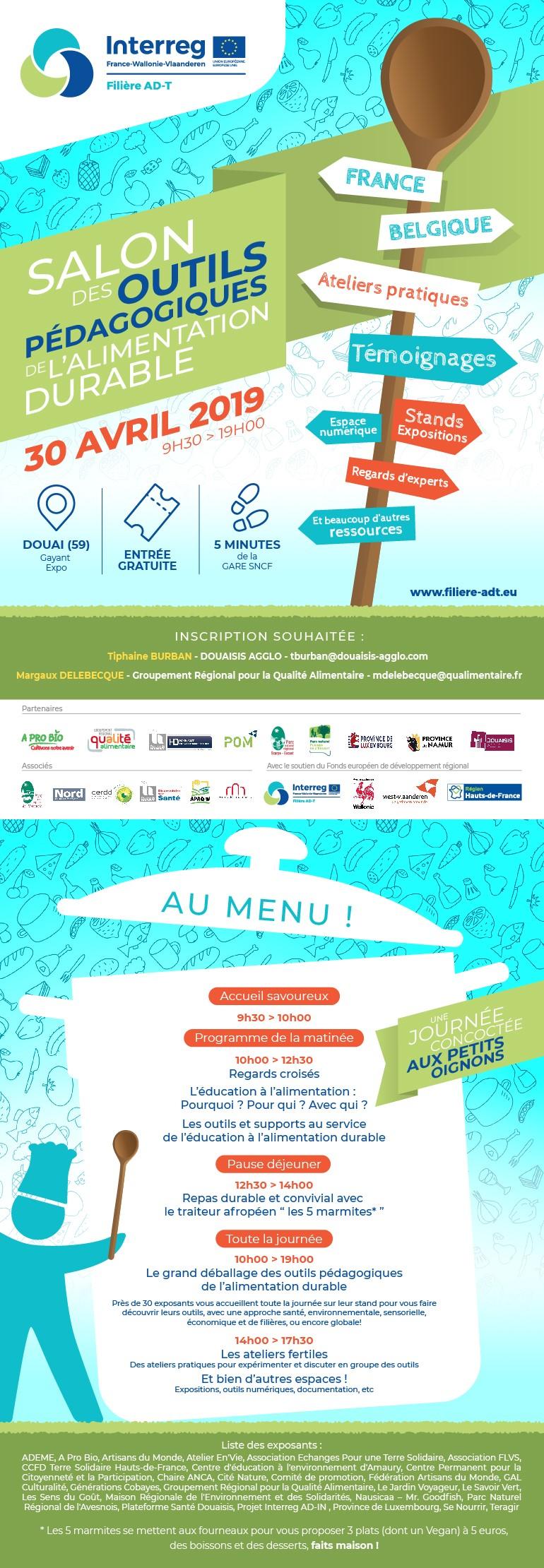 Salon des outils pédagogiques de l'alimentation durable | 30 avril 2019