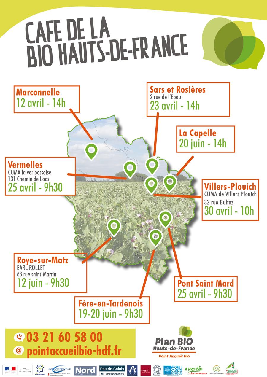 Carte | Les cafés de la bio (Avril – mai – juin)