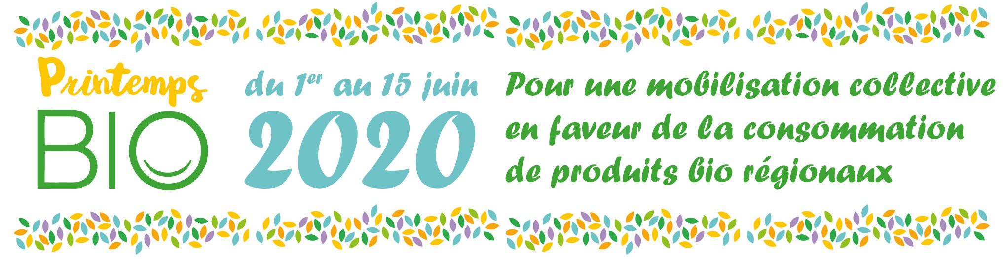 📅 Printemps Bio 2020 – Restons mobilisés !