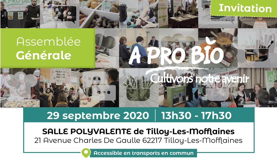Assemblée générale d'A PRO BIO • 29 septembre 2020