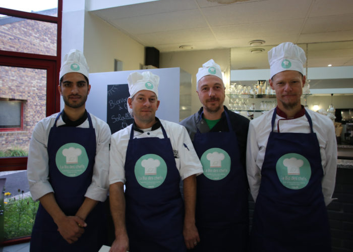 L'équipe bleue composée de Laurent VAN ESLANDER, Martial LUCCINI, Giovvi HANQUIER, Sheraz SAFY