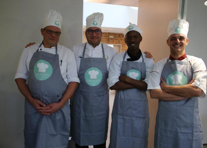 L equipe grise composée de Laurent LEMESRE, Pascal LANOY, Regis CLECH et Da DIARRA