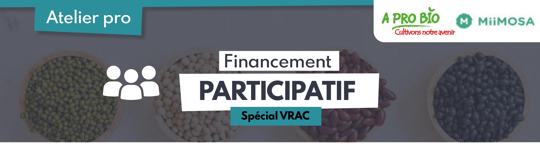📅 4 juin | Atelier pro » Financement participatif – Spécial VRAC » en Visioconférence